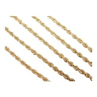 """Solid Rope Chain 14k Gold 18"""" Length, 15.0 Grams"""