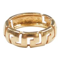 Greek Key Band Ring 18k Gold