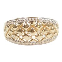 Woven Band Ring 14k Gold Two-Tone