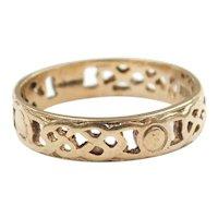 Woven Celtic Band Ring 9k Gold