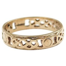 Woven Celtic Band Ring 9k Gold