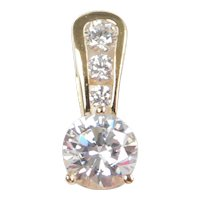 Faux Diamond 1.475 ctw Pendant 14k Gold