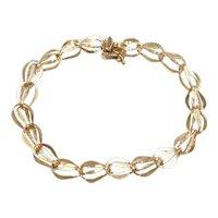 """Vintage Link Bracelet 14k Gold 7 1/4"""" Length, 5.2 Grams"""