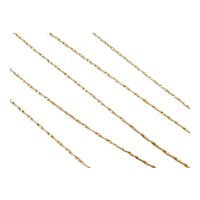 """Long Twisted Serpentine Chain 14k Gold 24"""" Length, 2.6 Grams"""