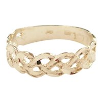 Woven Celtic Band Ring 14k Gold