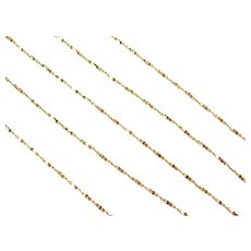 """Long Twisted Serpentine Chain 14k Gold 23 1/2"""" Length, 3.1 Grams"""