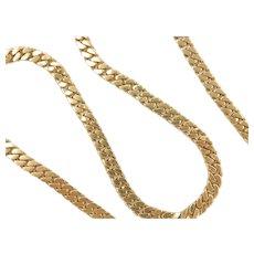 "Gents Solid Curb / Miami Cuban Link Chain 18k Gold 20"" Length, 83.4 Grams ~ Men's"