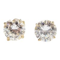 Faux Diamond 2.00 ctw Stud Earrings 14k Gold