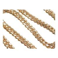 "Impressive Gents Solid Miami Cuban / Curb Link Chain Necklace 14k Gold 23 3/4"" Length, 180.0 Grams ~ Men's"