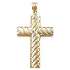 Cross Pendant 14k Gold