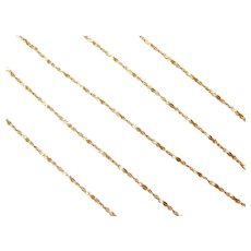 """15"""" 14k Gold Twisted Serpentine Chain ~ 1.1 Grams"""