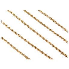 "16"" 14k Gold Diamond Cut Rope Chain ~ 5.5 Grams"