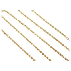 "Diamond Cut Rope Chain 14k Gold 20"" Length, 9.7 Grams"