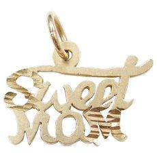 14k Gold Sweet Mom Charm / Pendant