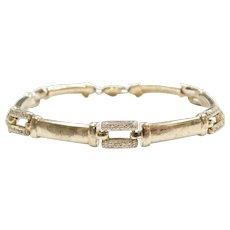 """7 1/4"""" 14k Gold Diamond Link Bracelet"""