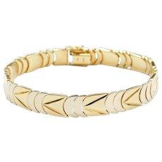 "7"" 18k Gold Two-Tone Bracelet"