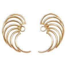 14k Gold Wing Earring Jackets