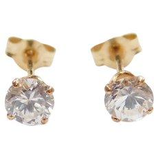 14k Gold .44 ctw Faux Diamond Stud Earrings