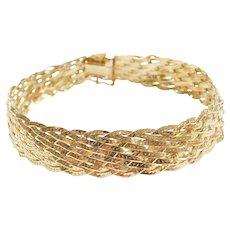 """7"""" 14k Gold Woven Bracelet"""