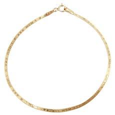 """7"""" 14k Gold #1 MOM Herringbone Bracelet"""