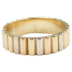 14k Gold Tri-Color Men's Ring