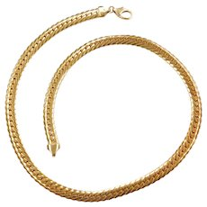 "20"" 18k Gold Tight Curb Link Chain ~ 29.5 Grams"
