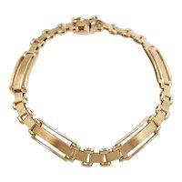 """Gents Bar Link Bracelet 14k Gold 8"""" Length, 16.9 Grams"""