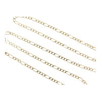 """3:1 Solid Figaro Link Chain 14k Gold 18"""" Length, 4.7 Grams"""