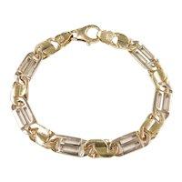 "Gents Heavy Link Bracelet 14k Gold Two-Tone 8 1/4"" Length, 33.1 Grams ~ Gents"