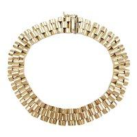 """Men's Link Bracelet 14k Gold 8"""" Length, 26.4 Grams"""