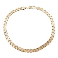 """Gents Solid Curb Link Bracelet 14k Gold 8 3/4"""" Length, 11.1 Grams ~ Men's"""