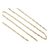 "Singapore Chain 14k Gold 18"" Length, 2.5 Grams"