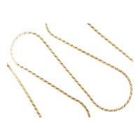 "Long Serpentine Chain 14k Gold 24"" Length, 10.2 Grams"