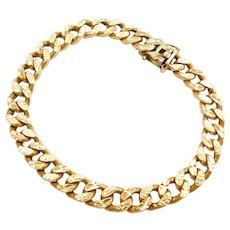 22k Gold Diamond Cut Curb Link Bracelet