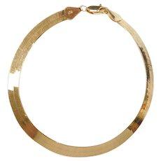 """8"""" 14k Gold Herringbone Bracelet ~"""