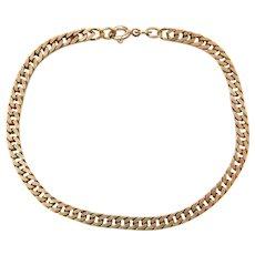 """7"""" 14k Gold Curb Link Bracelet"""