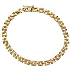 """7 1/4"""" 14k Gold Link Bracelet"""