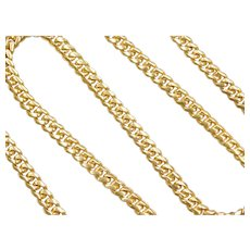 "24 1/4"" Long Men's 14k Gold Heavy Solid Curb Link Chain ~ 68.9 Grams"