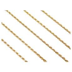"18"" 14k Gold Diamond Cut Rope Chain ~ 6.6 Grams"