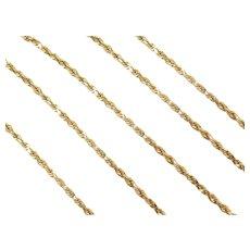 "20"" 14k Gold Diamond Cut Rope Chain ~ 8.3 Grams"