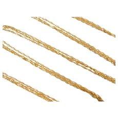 "20"" 14k Gold Triple Strand Singapore Chain ~ 3.9 Grams"