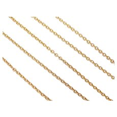 """16"""" 14k Gold Cable Link Chain ~ 2.8 Grams"""