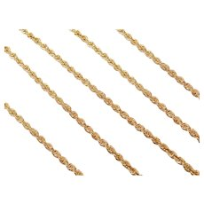 """20"""" 14k Gold Hollow Rope Chain ~ 2.3 Grams"""