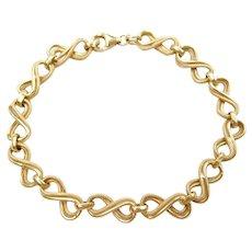 """7 1/4"""" 14k Gold Infinity Link Bracelet"""