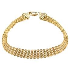 """7 3/8"""" 14k Gold Wide Link Bracelet"""