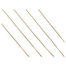 """19"""" 14k Gold Thin Box Chain ~ 1.2 Grams"""