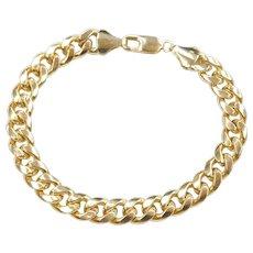 """8 3/4"""" 10k Gold Hollow Curb Link Bracelet"""