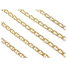 "22"" 10k Gold Marine Anchor Link Chain ~ 11.6 Grams"
