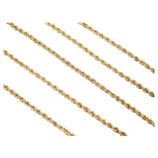 "18"" 14k Gold Rope Chain ~ 5.5 Grams"