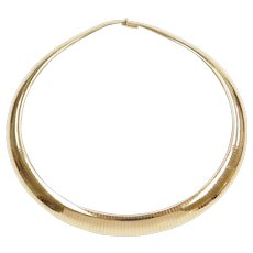 "18"" 14k Gold Heavy Thick Omega Chain / Necklace ~ 84.7 Grams"
